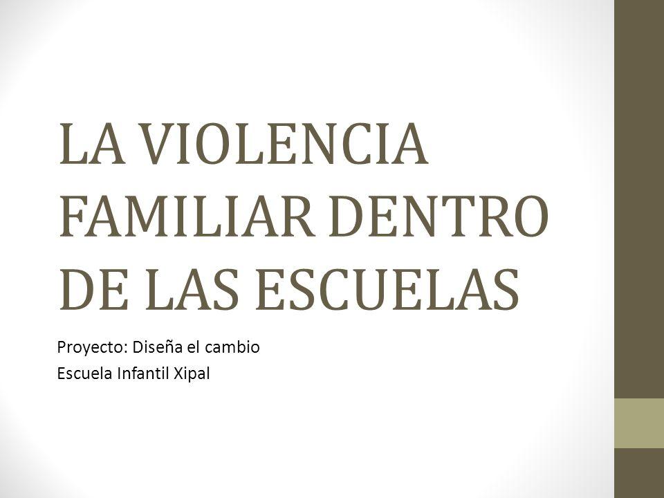 LA VIOLENCIA FAMILIAR DENTRO DE LAS ESCUELAS