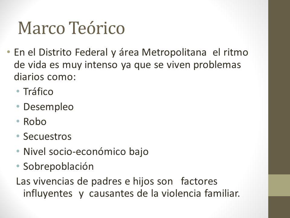 Marco Teórico En el Distrito Federal y área Metropolitana el ritmo de vida es muy intenso ya que se viven problemas diarios como: