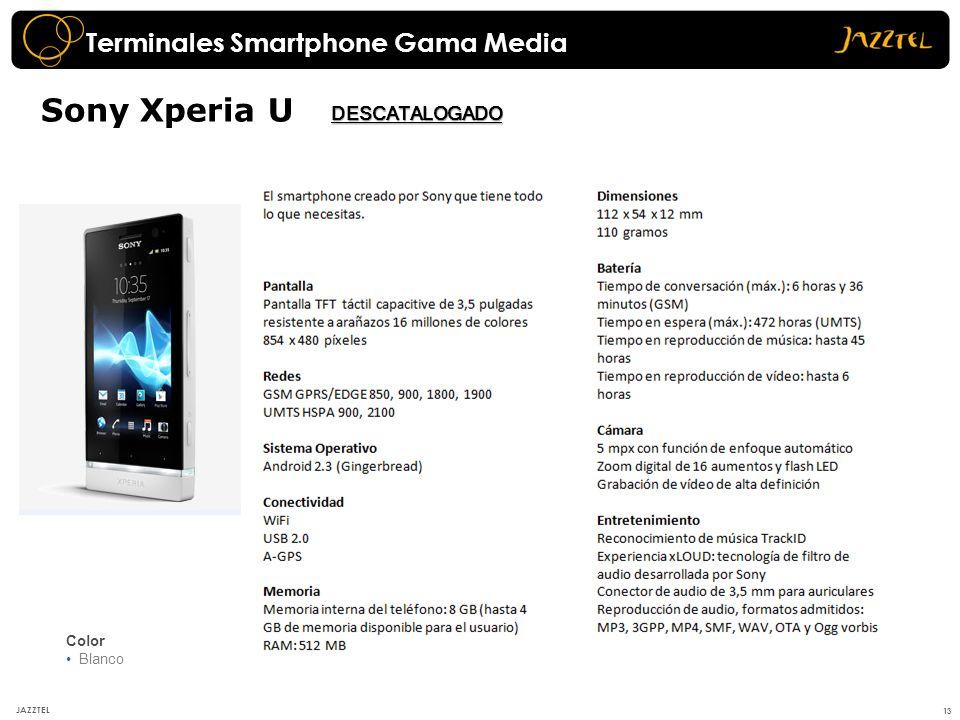 Sony Xperia U Terminales Smartphone Gama Media DESCATALOGADO Color