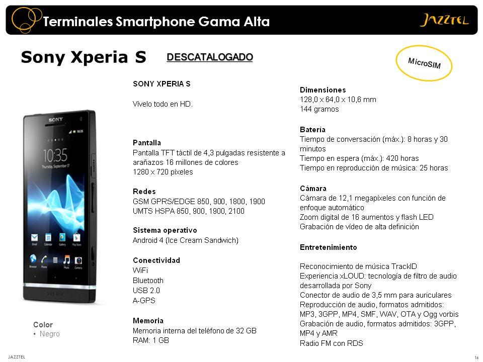 Sony Xperia S Terminales Smartphone Gama Alta DESCATALOGADO MicroSIM