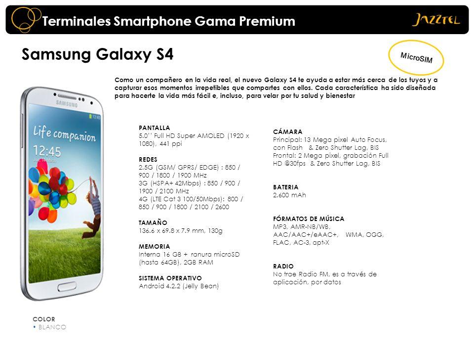 Samsung Galaxy S4 Terminales Smartphone Gama Premium MicroSIM