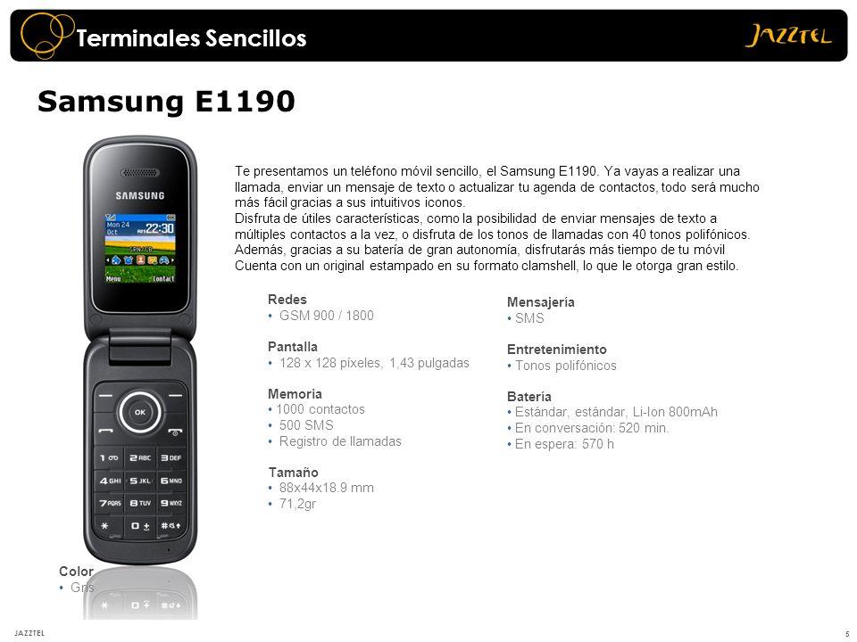 Samsung E1190 Terminales Sencillos
