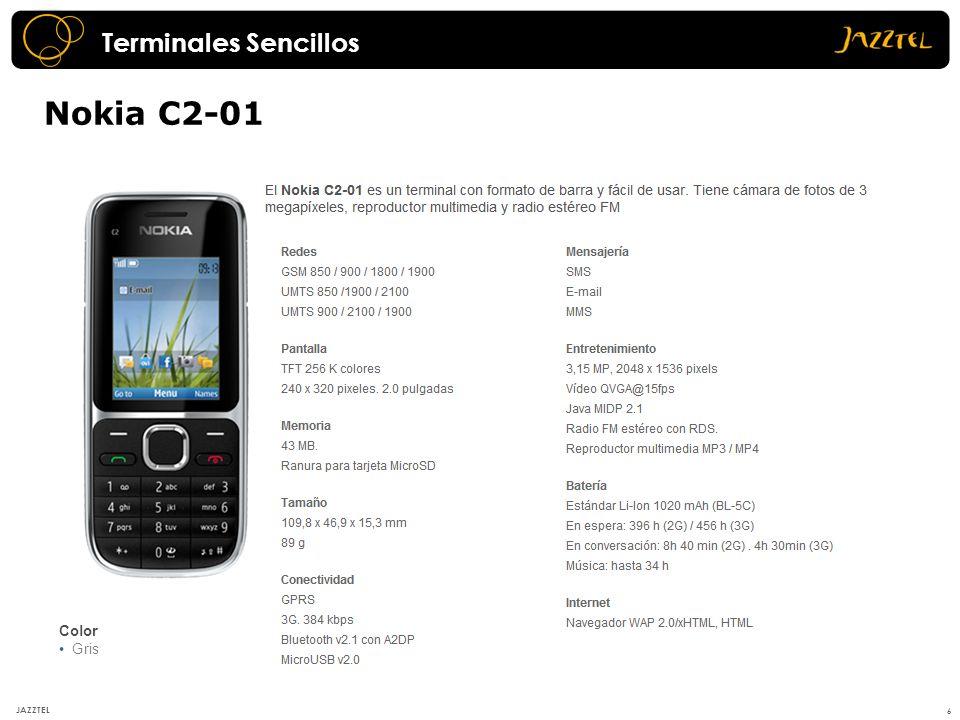 Terminales Sencillos Nokia C2-01 Color Gris JAZZTEL 6