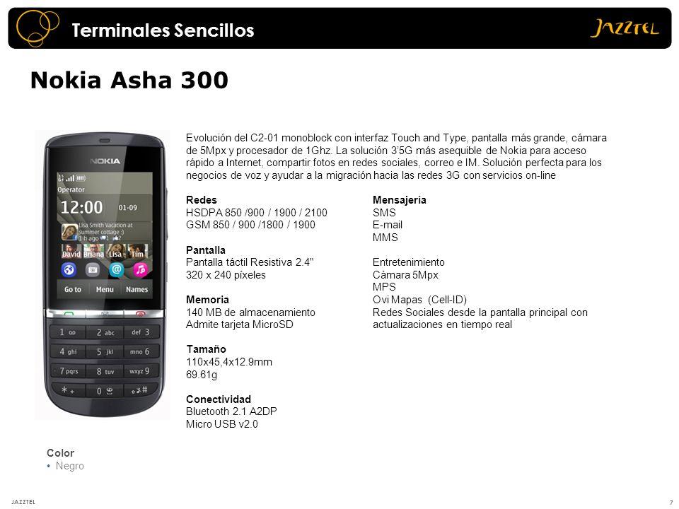 Nokia Asha 300 Terminales Sencillos