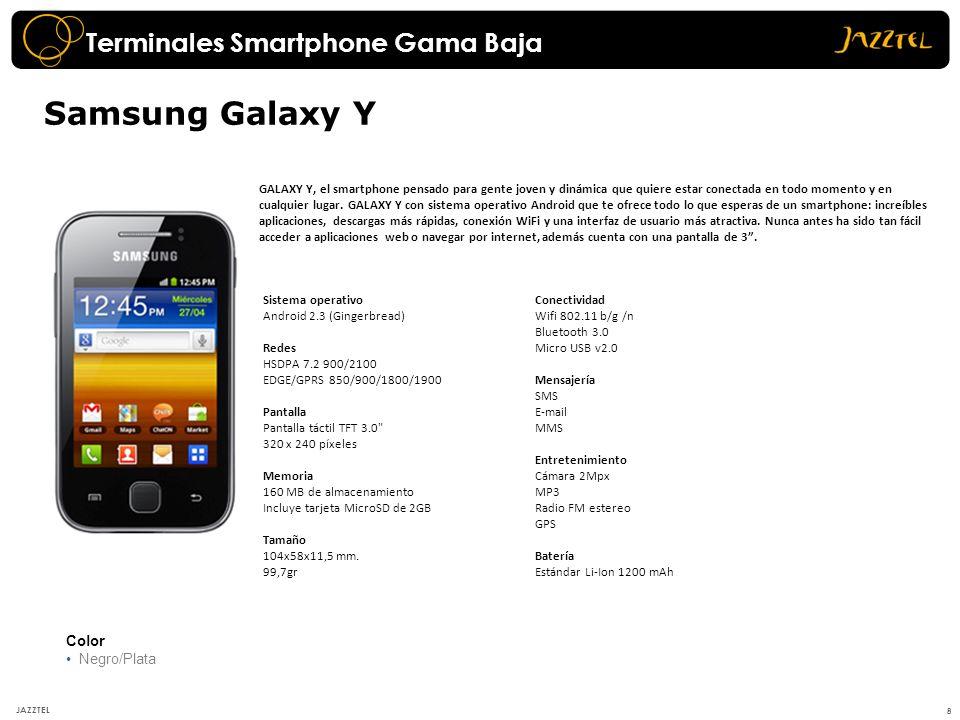 Samsung Galaxy Y Terminales Smartphone Gama Baja Color Negro/Plata