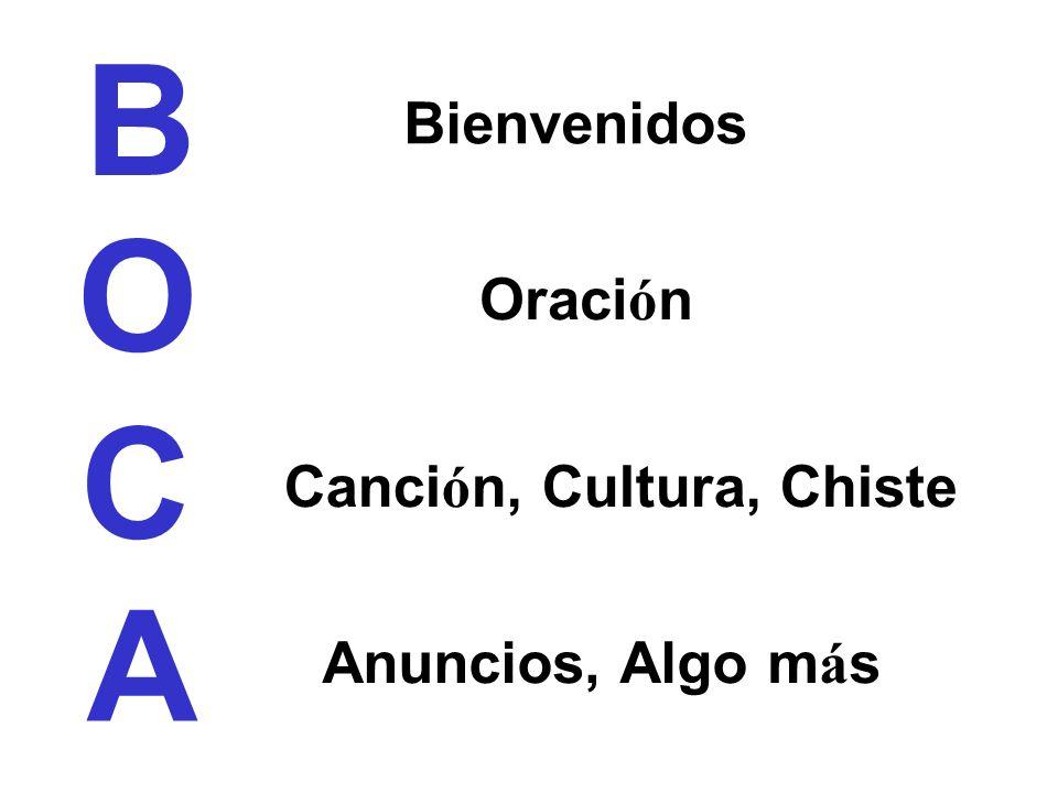 B O C A Bienvenidos Oración Canción, Cultura, Chiste