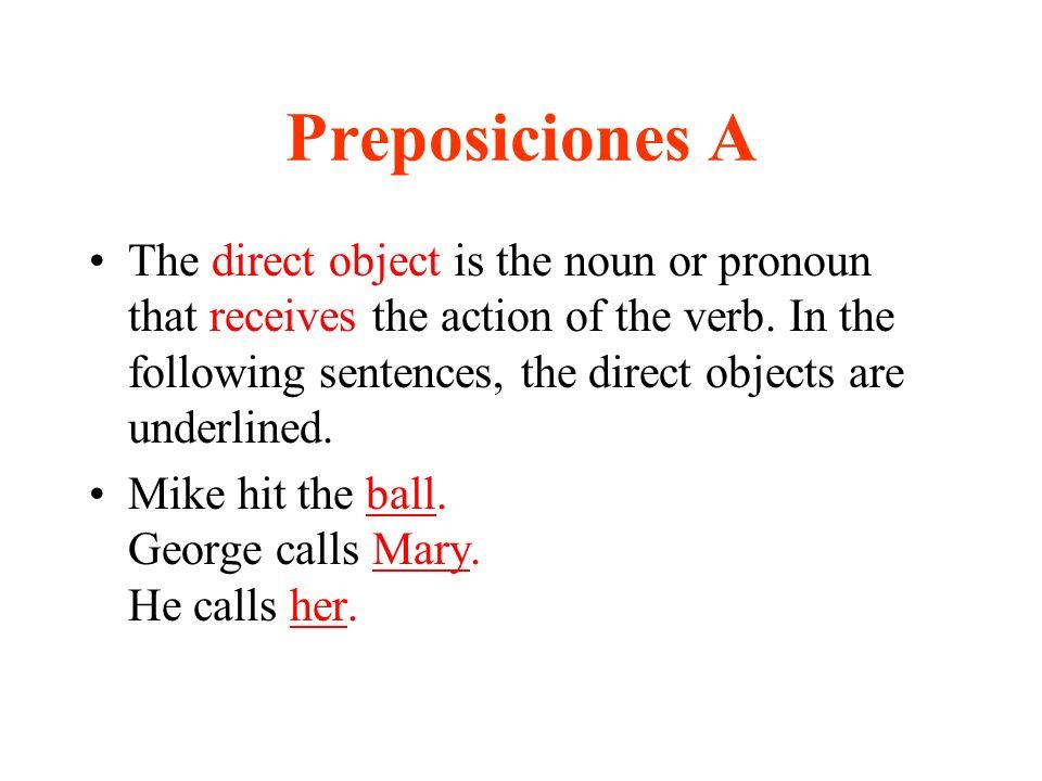 Preposiciones A