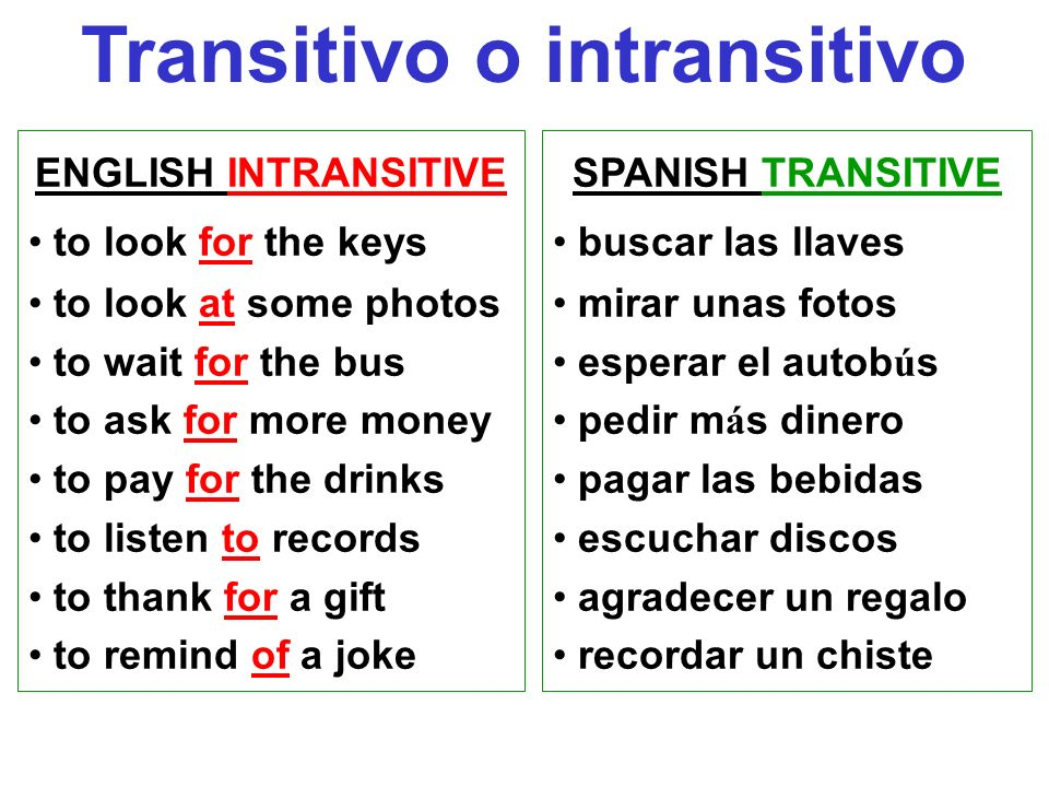 Transitivo o intransitivo