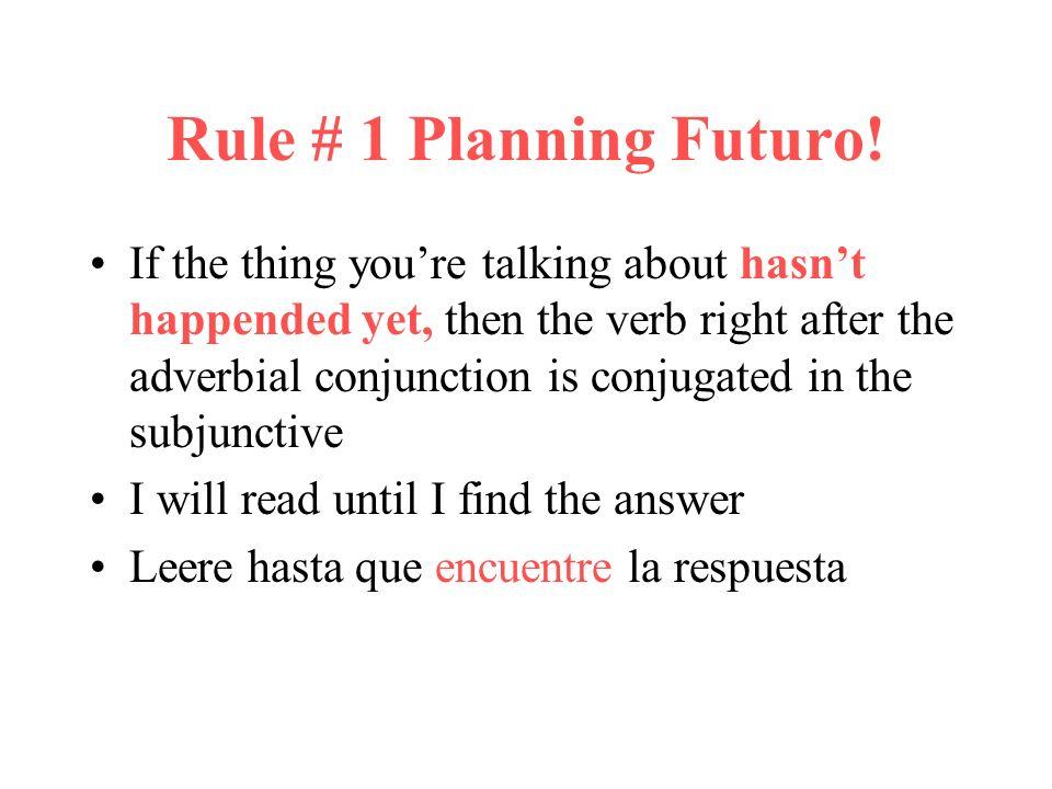 Rule # 1 Planning Futuro!