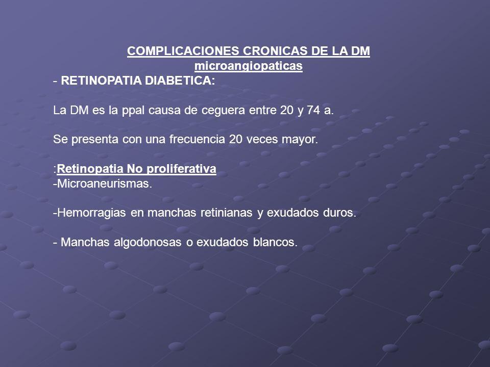 COMPLICACIONES CRONICAS DE LA DM