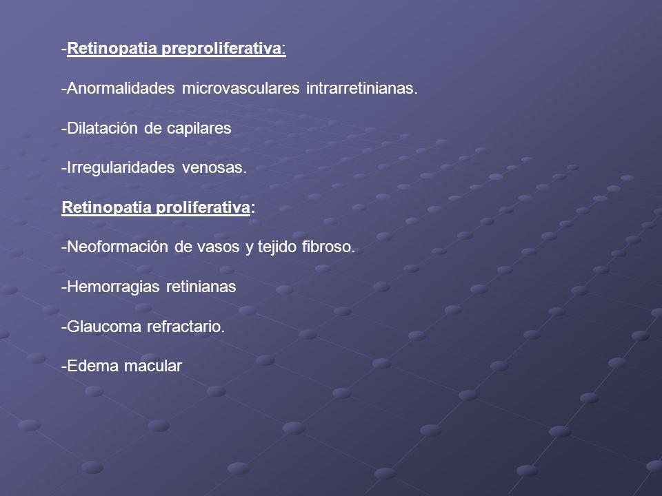 -Retinopatia preproliferativa: