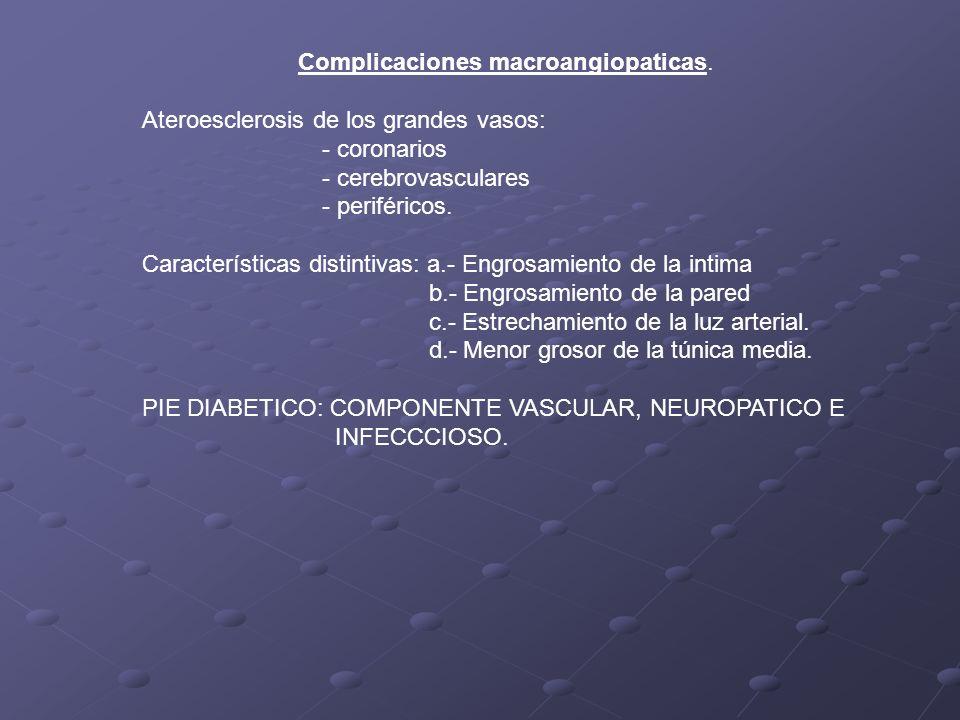 Complicaciones macroangiopaticas.