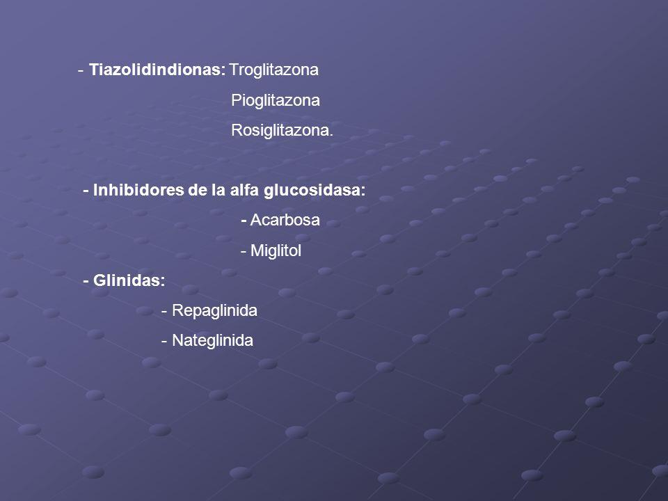 - Tiazolidindionas: Troglitazona