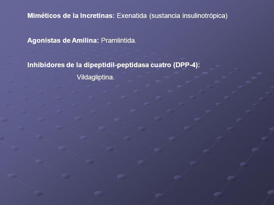 Miméticos de la Incretinas: Exenatida (sustancia insulinotrópica)