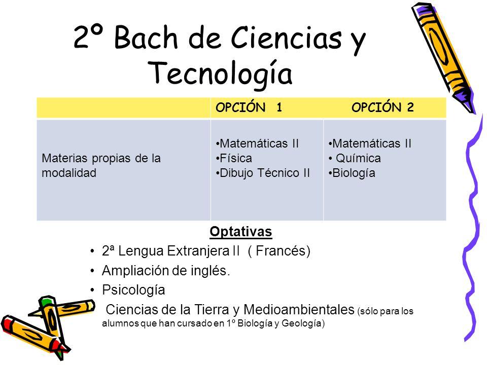 2º Bach de Ciencias y Tecnología