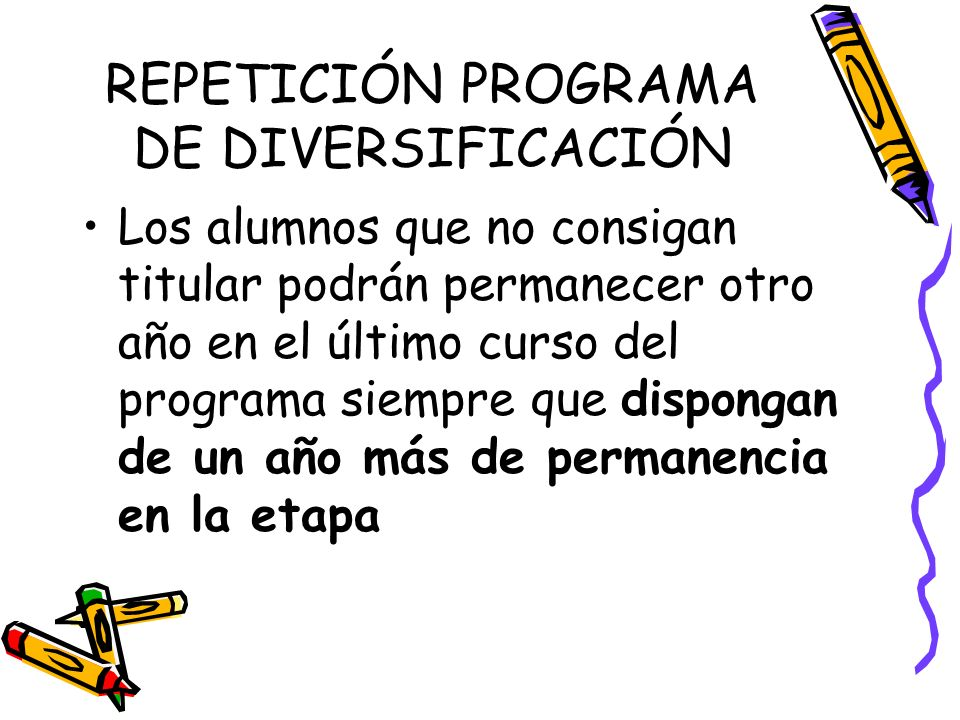 REPETICIÓN PROGRAMA DE DIVERSIFICACIÓN
