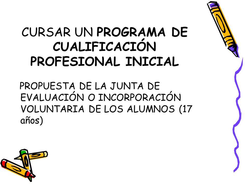 CURSAR UN PROGRAMA DE CUALIFICACIÓN PROFESIONAL INICIAL