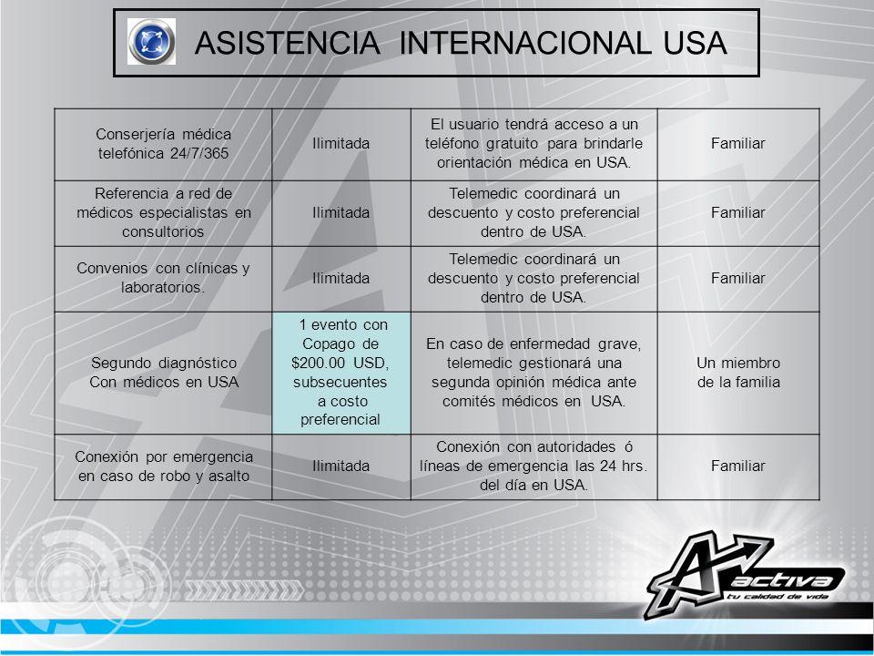 ASISTENCIA INTERNACIONAL USA