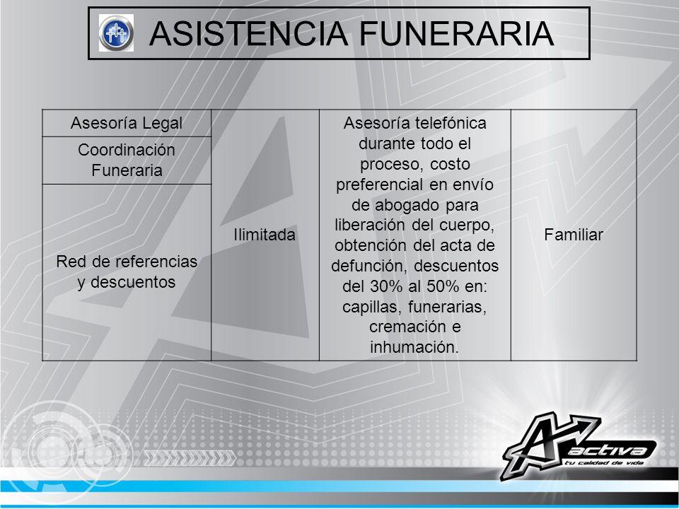 ASISTENCIA FUNERARIA Asesoría Legal Ilimitada