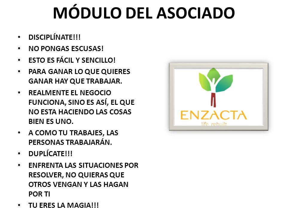 MÓDULO DEL ASOCIADO DISCIPLÍNATE!!! NO PONGAS ESCUSAS!
