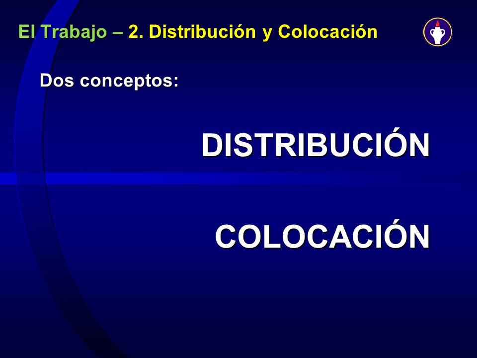 El Trabajo – 2. Distribución y Colocación