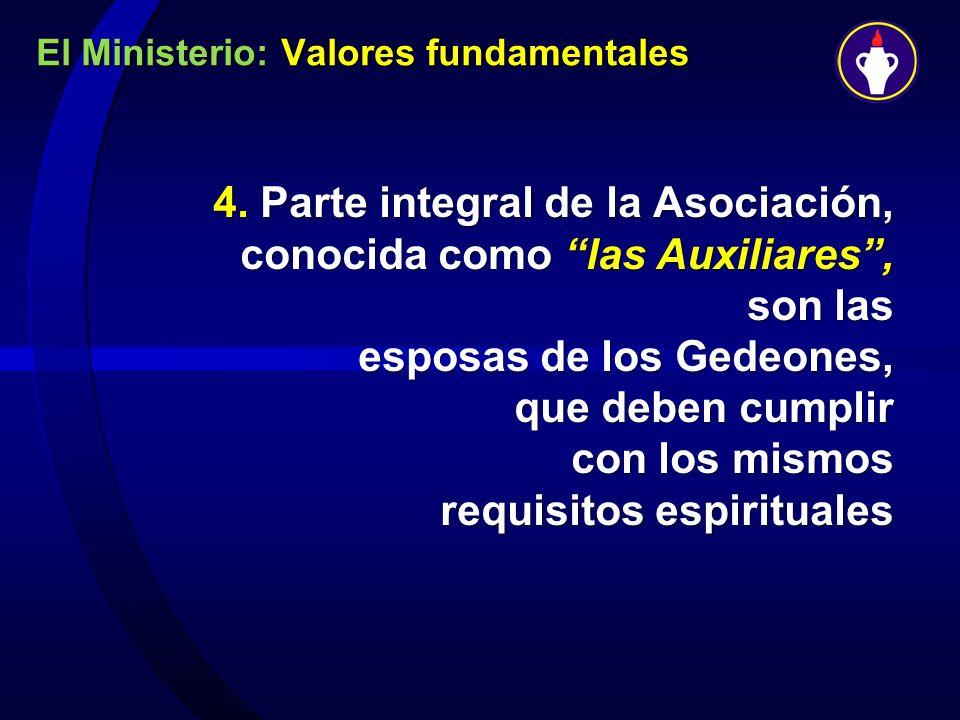 El Ministerio: Valores fundamentales
