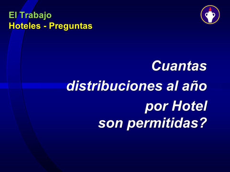 El Trabajo Hoteles - Preguntas