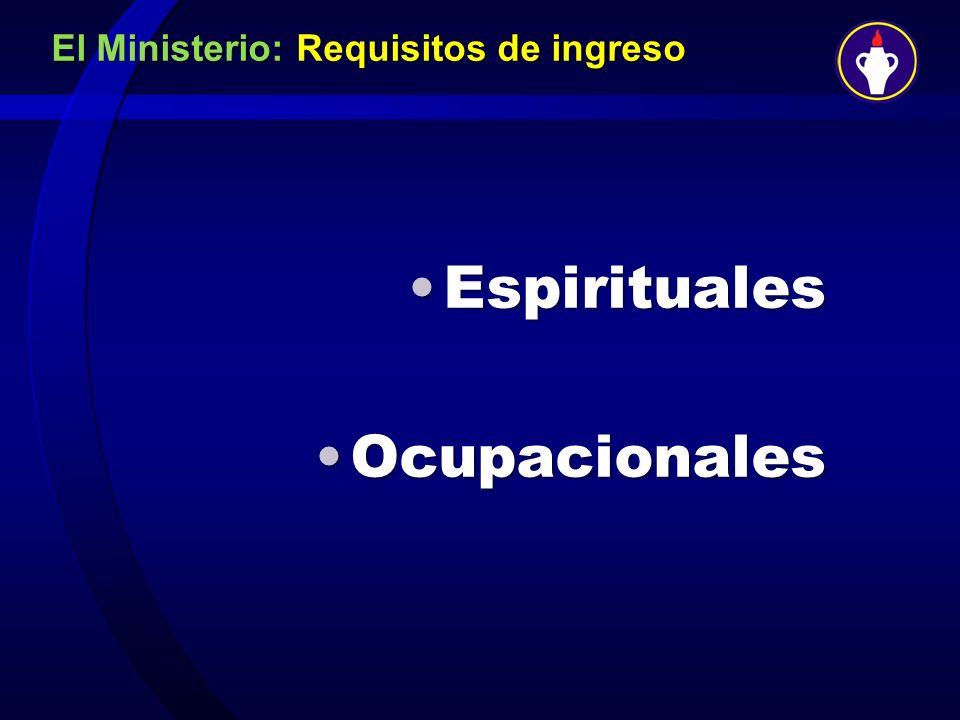 El Ministerio: Requisitos de ingreso
