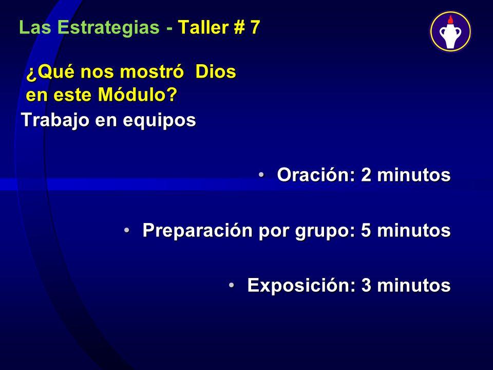 Las Estrategias - Taller # 7