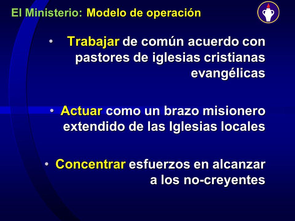 El Ministerio: Modelo de operación