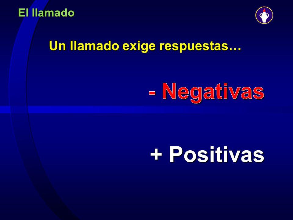 Un llamado exige respuestas… - Negativas + Positivas