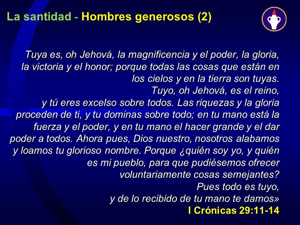 La santidad - Hombres generosos (2)