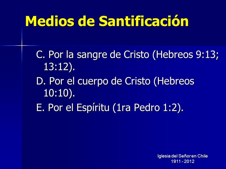 Medios de Santificación