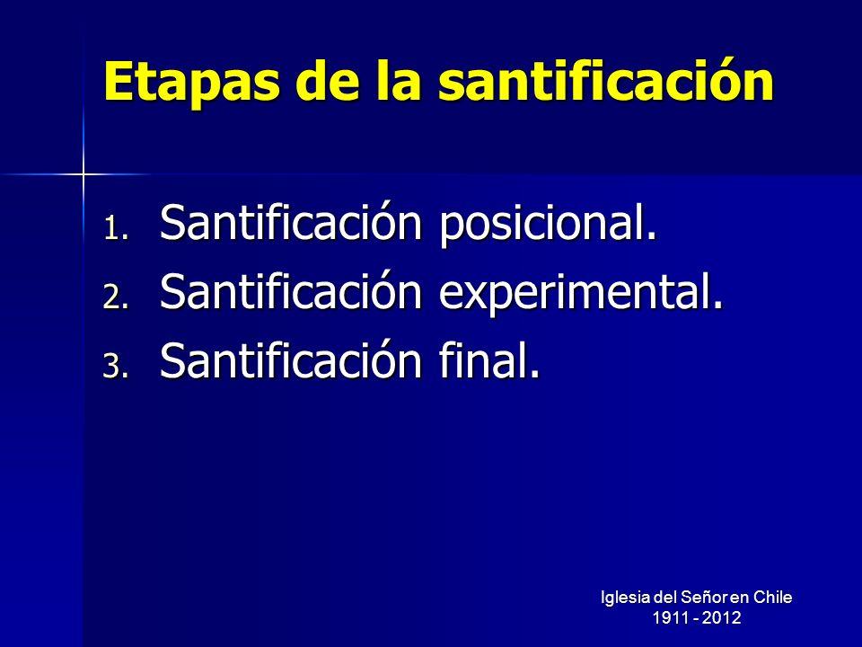 Etapas de la santificación