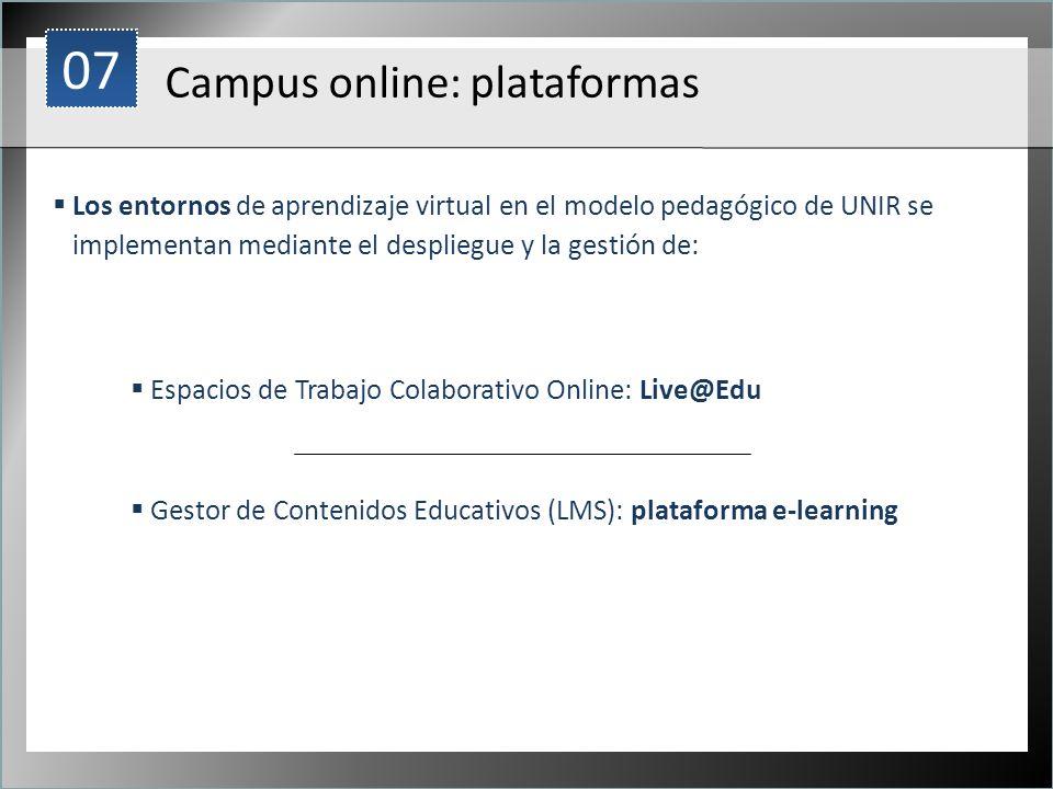 07 Campus online: plataformas