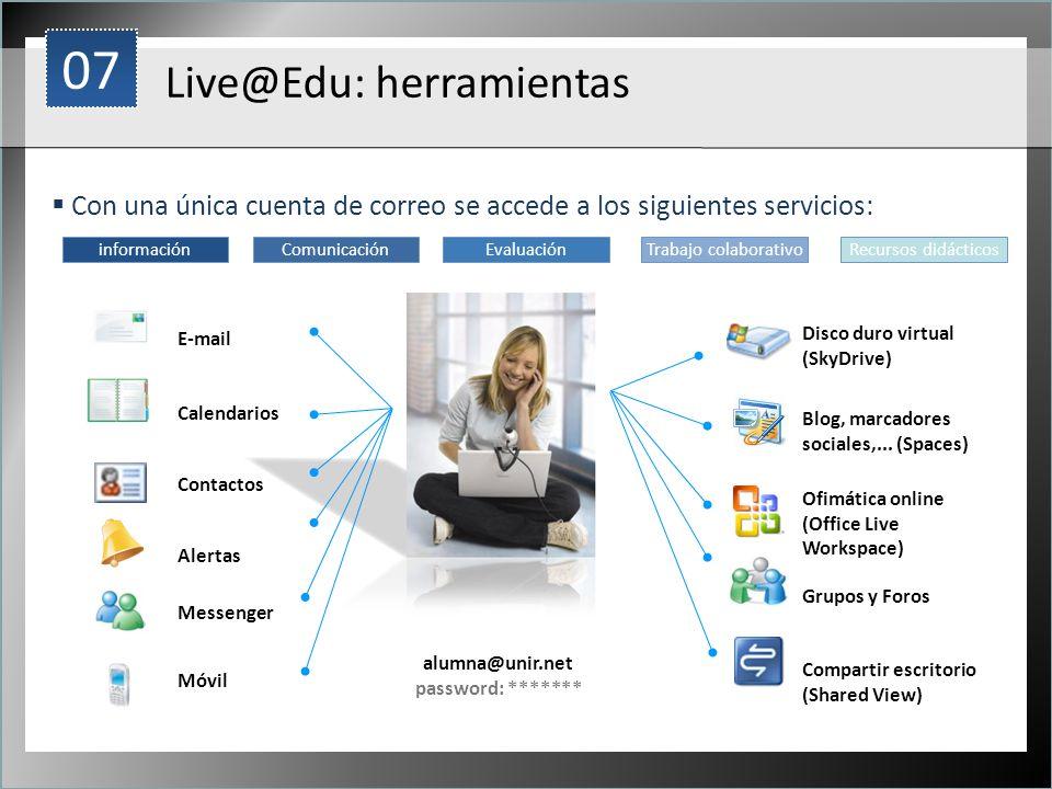 07 Live@Edu: herramientas