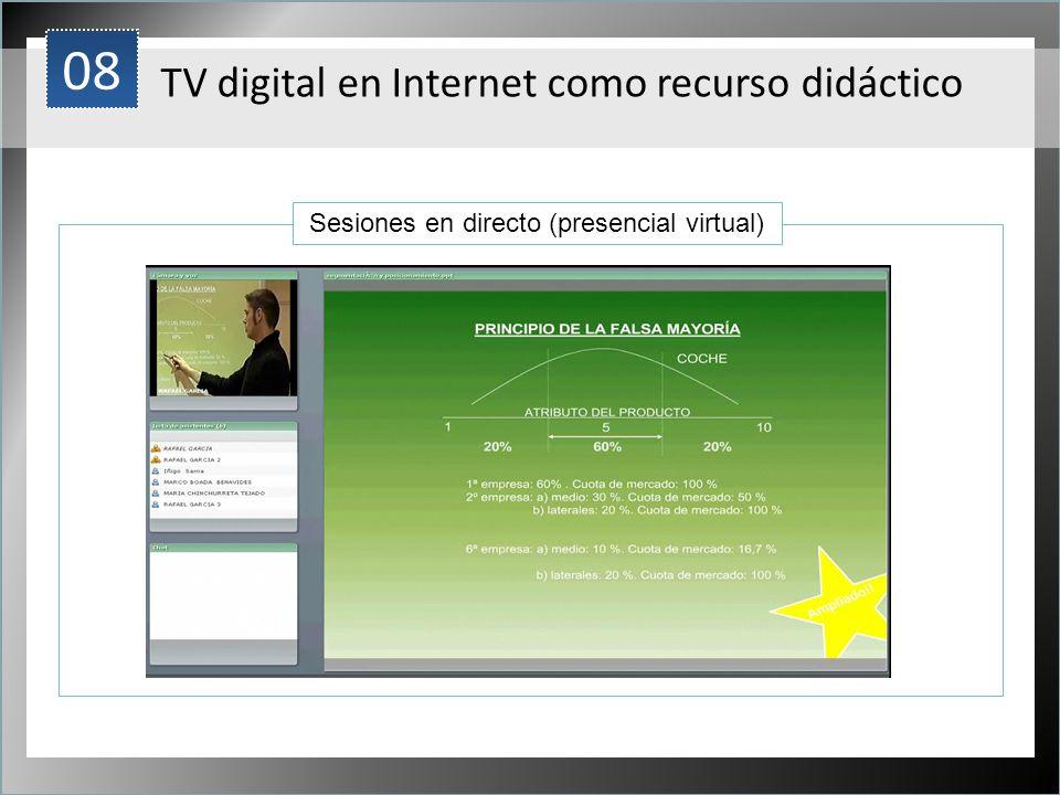 Sesiones en directo (presencial virtual)