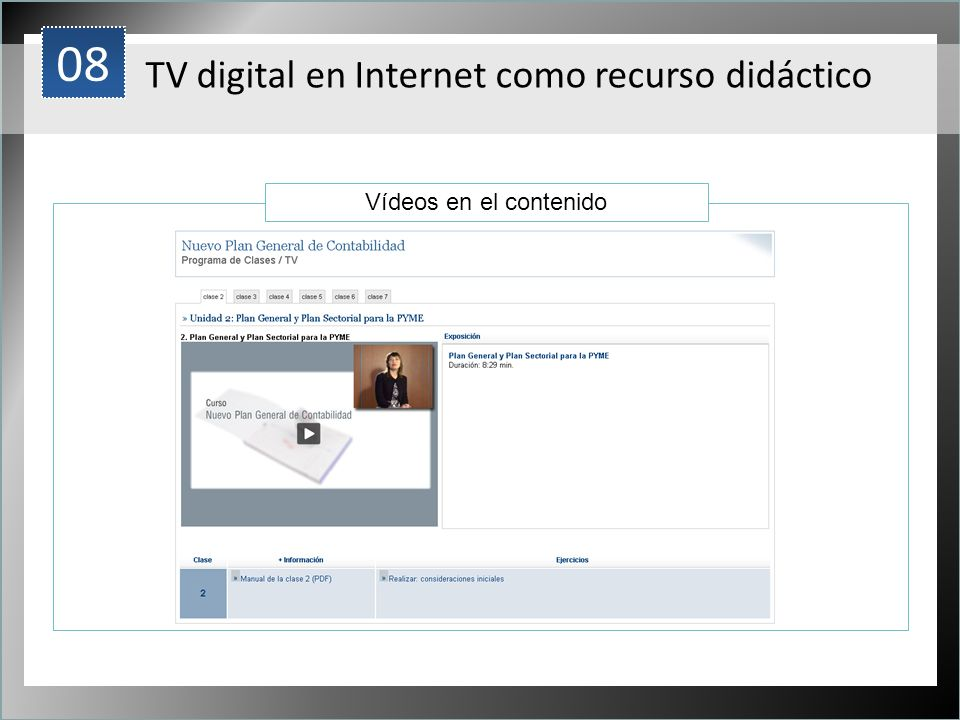 08 TV digital en Internet como recurso didáctico