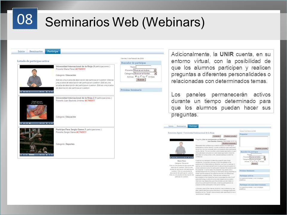08 Seminarios Web (Webinars) 1