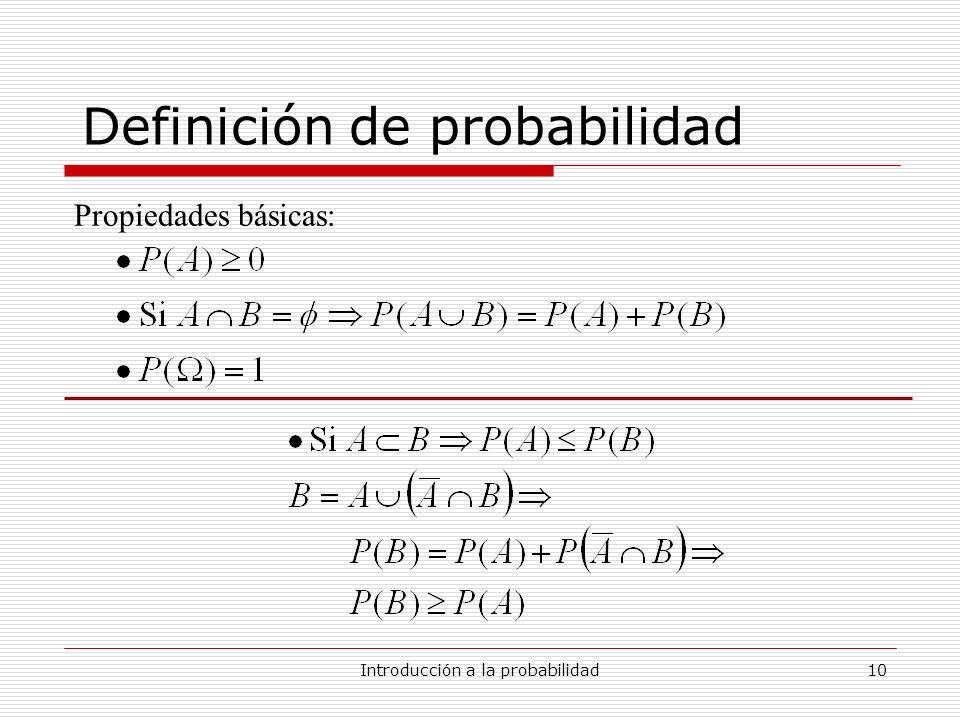 Definición de probabilidad