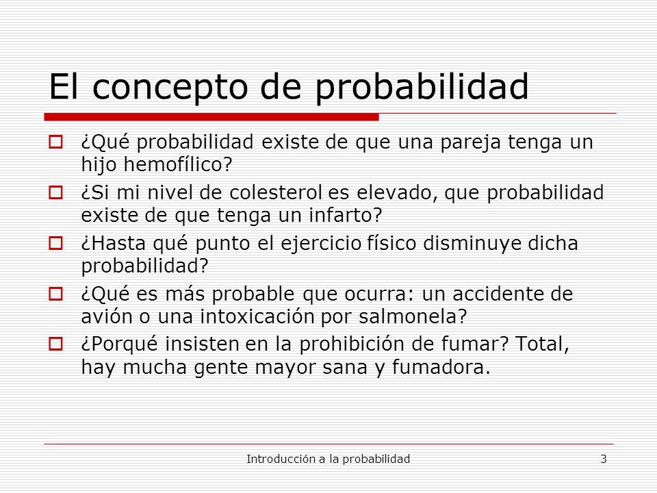 El concepto de probabilidad