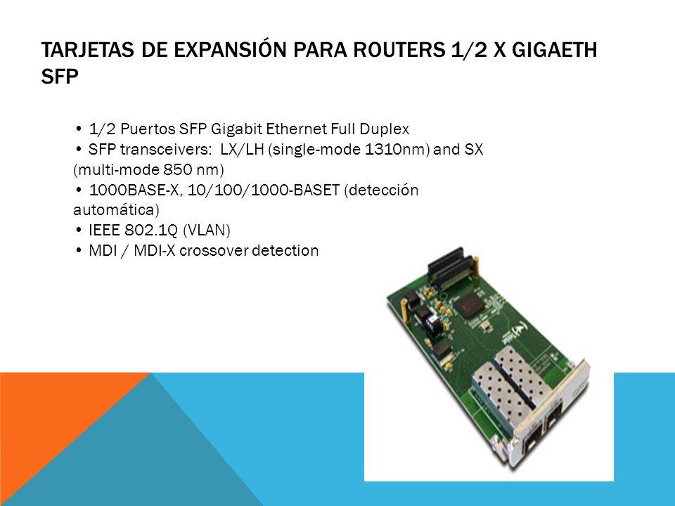 Tarjetas de Expansión para Routers 1/2 x GigaEth SFP