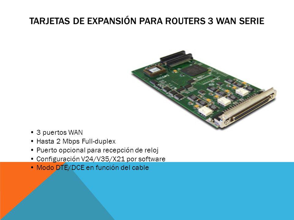Tarjetas de Expansión para Routers 3 WAN Serie