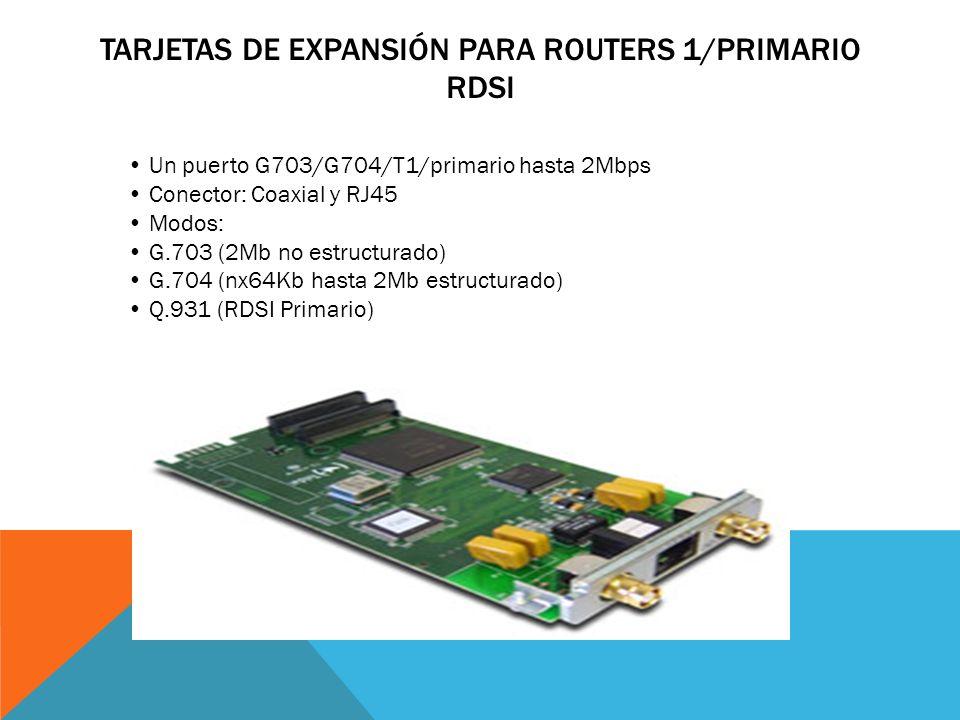 Tarjetas de Expansión para Routers 1/Primario RDSI