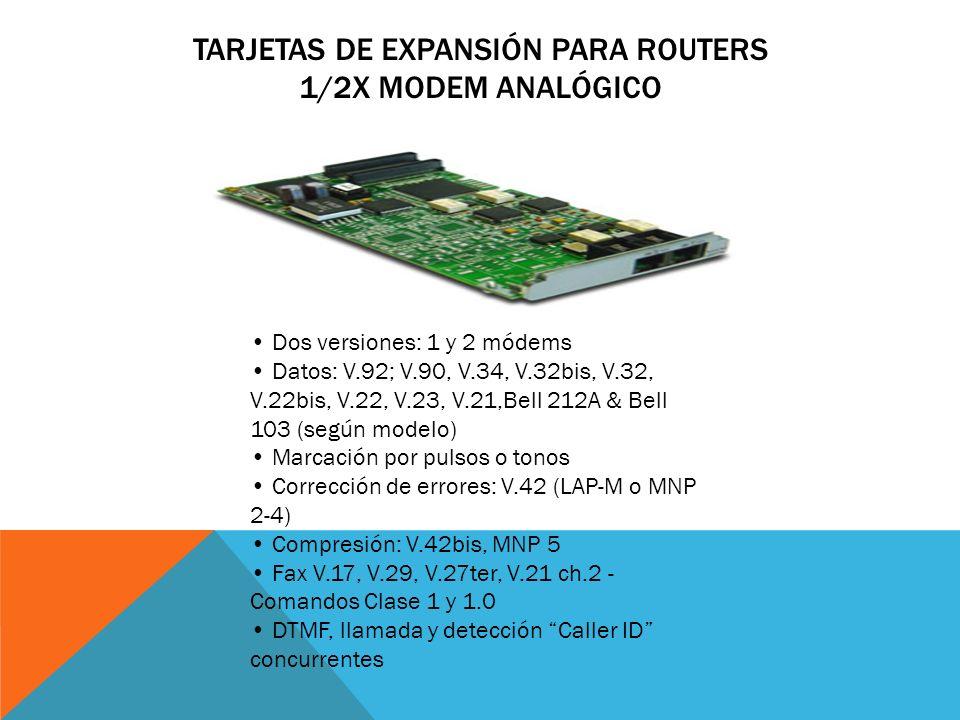 Tarjetas de Expansión para Routers 1/2x Modem analógico