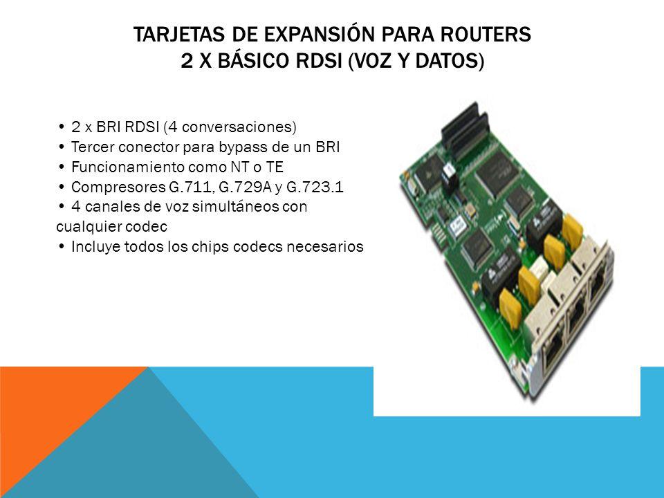 Tarjetas de Expansión para Routers 2 x Básico RDSI (Voz y Datos)