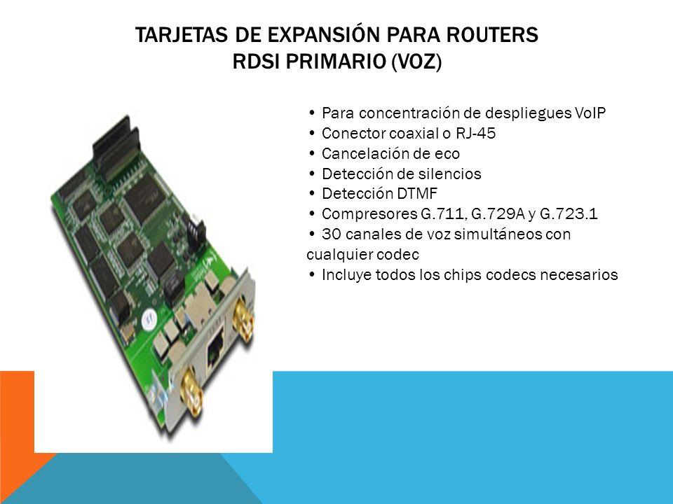 Tarjetas de Expansión para Routers RDSI Primario (Voz)