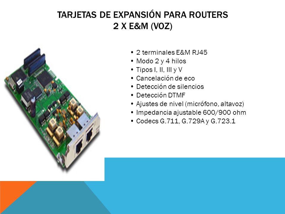 Tarjetas de Expansión para Routers 2 x E&M (Voz)