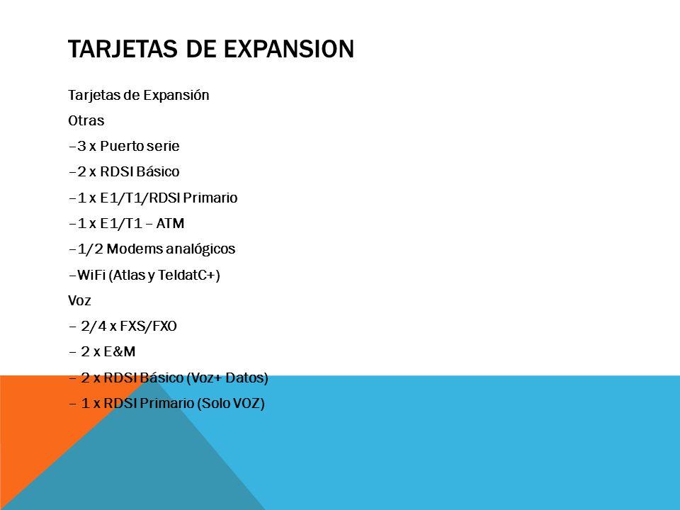 Tarjetas de Expansion