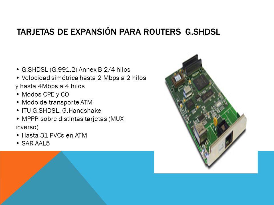 Tarjetas de Expansión para Routers G.SHDSL